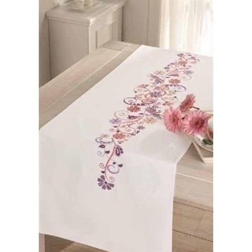 Vervaco Vervaco lange tafelloper sierlijke bloemen 0012996