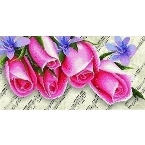 Needleart Needleart borduurpakket Pink Roses & Music 650.010