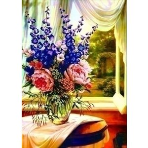 Needleart Needleart Floral Vase by the Window 750.019
