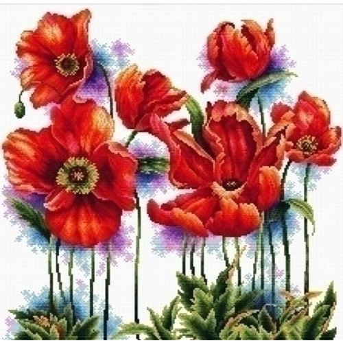 Needleart Needleart borduurpakket Lovely Poppies 640.069