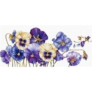 Needleart Needleart borduurpakket Purple Pansie 840.073