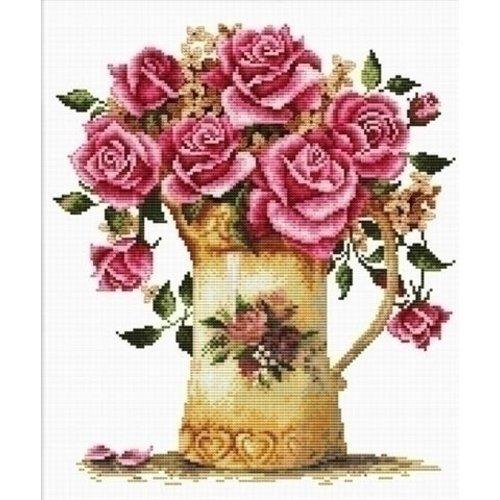 Needleart Needleart Antique Flower Vase 440.092