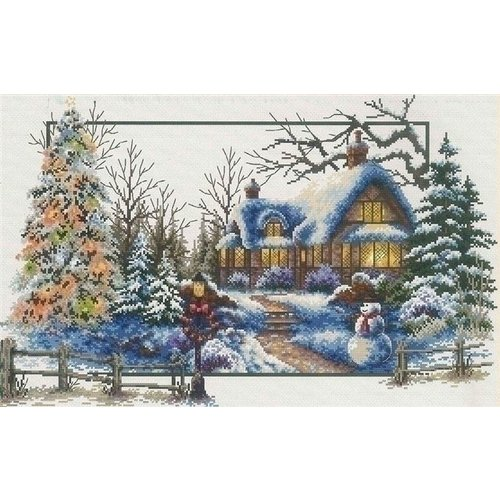 Needleart Voorbedrukt borduurpakket Winter Cottage 640.048