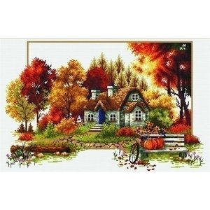 Needleart Voorbedrukt borduurpakket Autumn Cottage 640.047