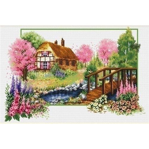 Needleart Needleart borduurpakket Spring Cottage 640.045