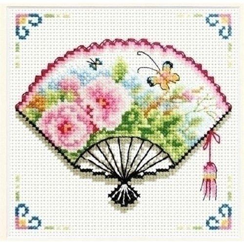 Needleart Needleart Rose Fan 140.026 No Count borduurpakket