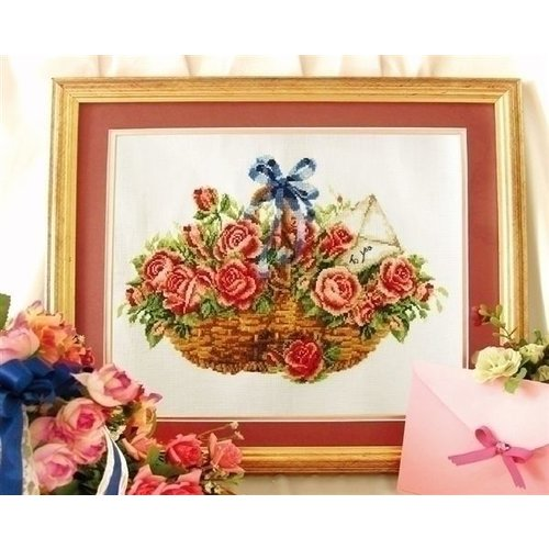 Needleart Needleart borduurpakket Basket of Roses 340.033