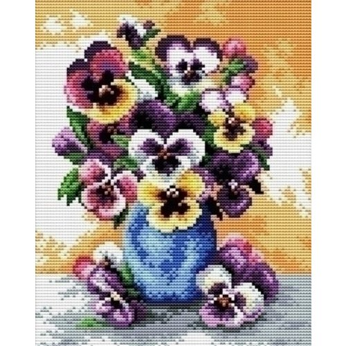 Needleart Needleart borduurpakket Vase of Pansies 240.054