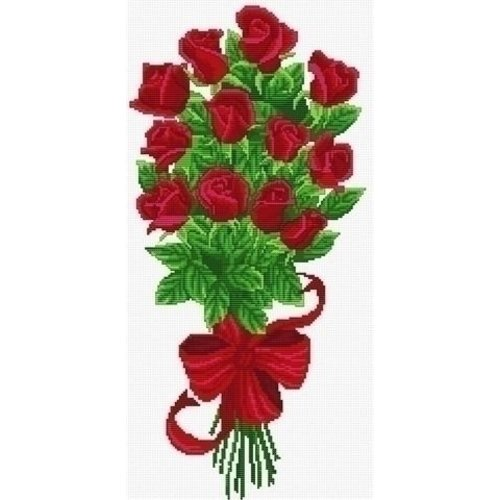 Needleart Needleart Bouquet of Red Rose Buds 340.003