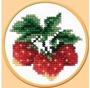 Voorbedrukt borduurpakket Wild Strawberry pcs-0503