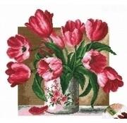 Voorbedrukt borduurpakket Tulips pcs-0851
