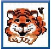 Voorbedrukt borduurpakket Tiger Cub pcs-0869