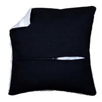 Kussenrug met rits zwart 45 x 45 cm 0174417
