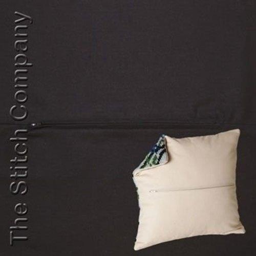 Kussenrug met rits 45 x 45 cm Zwart