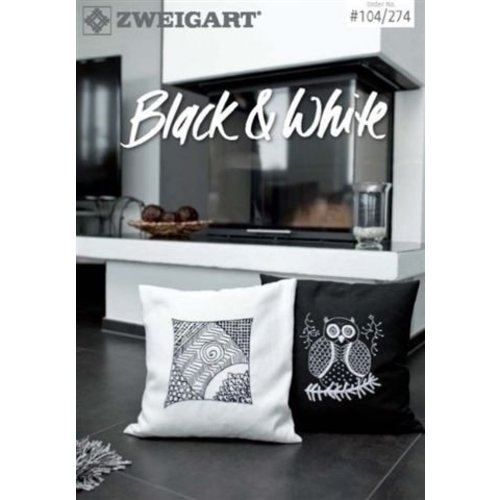 Zweigart Zweigart borduurboekje Black and White 104 274