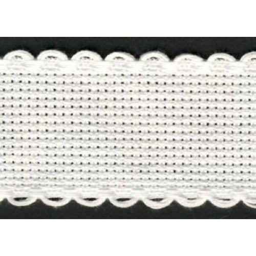 Vervaco Vervaco Aidaband 3 cm wit rol van 20 meter