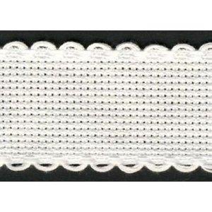 Vervaco Vervaco Aidaband 8 cm wit rol van 20 meter