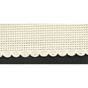Vervaco Vervaco Aidaband 3 cm beige rol van 20 meter