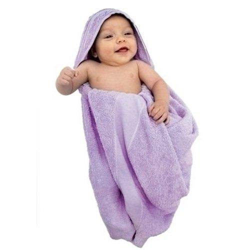 Baby badcape ecru met aidaband 75 x 100 cm