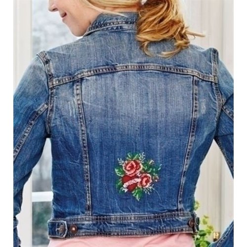 Permin Waste Canvas Patroon Hearts and roses 79-4755