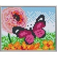 Pixelhobby XL Geschenkset 4 platen Roze Vlinder