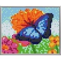 Pixelhobby XL Geschenkset 4 platen Blauwe Vlinder