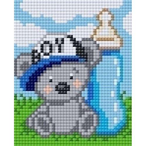 PixelHobby Pixelhobby XL geschenkset 4 platen Geboorte Jongen