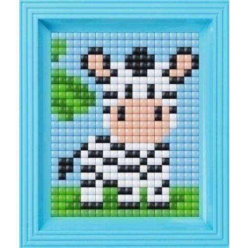 PixelHobby Pixelhobby XL Baby zebra geschenkverpakking