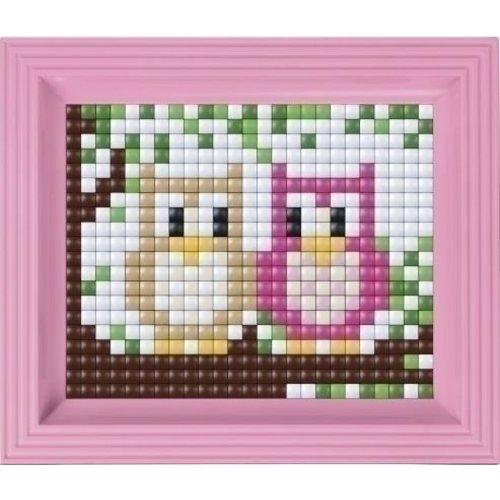 PixelHobby Pixelhobby XL set Twee uiltjes 12004