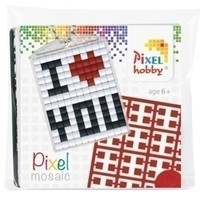 Pixelhobby medaillon startset I Love You