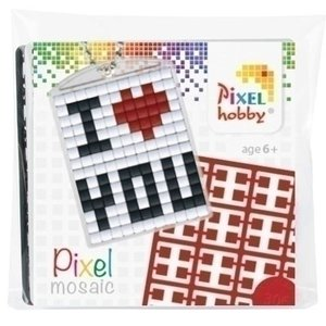 PixelHobby Pixelhobby medaillon startset I Love You
