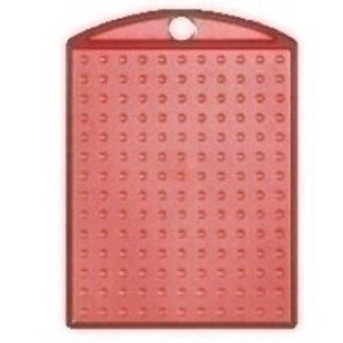 PixelHobby Pixelhobby medaillon rood transparant
