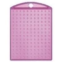 Pixelhobby medaillon roze transparant