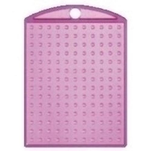 PixelHobby Pixelhobby medaillon roze transparant