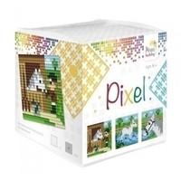 Pixel kubus paarden 29006