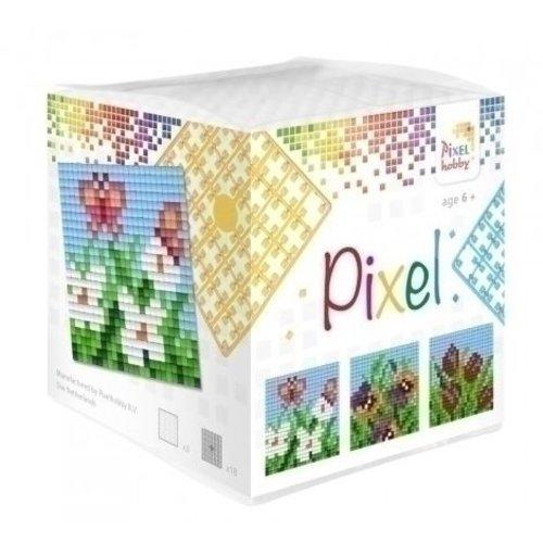 PixelHobby Pixel kubus bloemen 29005