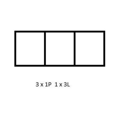 PixelHobby Pixelhobby lijst 3 x 1P 1 x 3L