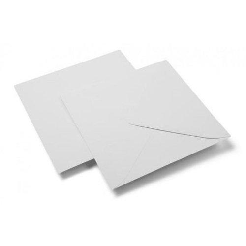 10 Vierkante enveloppen 15,4x15,4 cm 120 gram wit