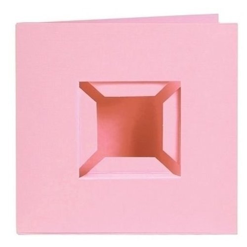 PixelHobby Pixelhobby kaarten Passe Partout roze 4 stuks