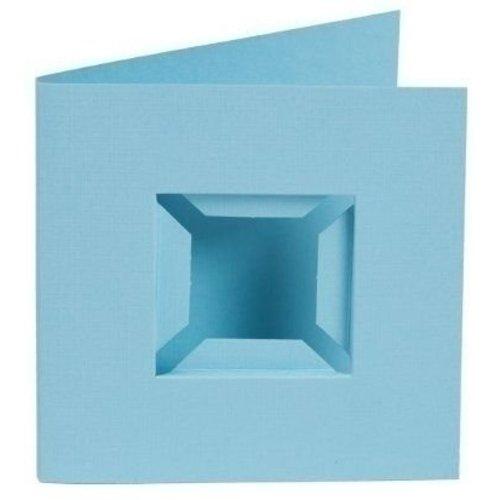 PixelHobby Pixelhobby kaarten Passe Partout blauw 4 stuks