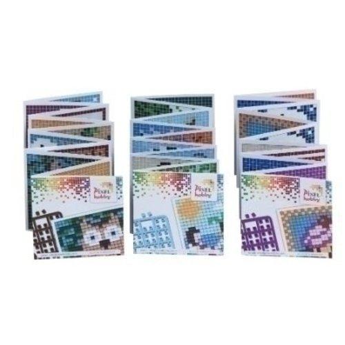 PixelHobby Set van 3 mini boekjes voor basisplaat 6 x 6 cm
