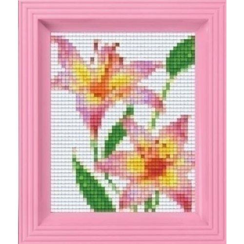 PixelHobby Pixelhobby geschenkset Roze Lelie 31282