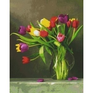 PixelHobby Pixelhobby Patroon 836012 Tulpen in Vaas