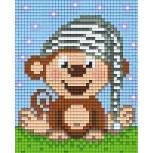 PixelHobby Pixelhobby Patroon 801347 Aapje met Slaapmuts
