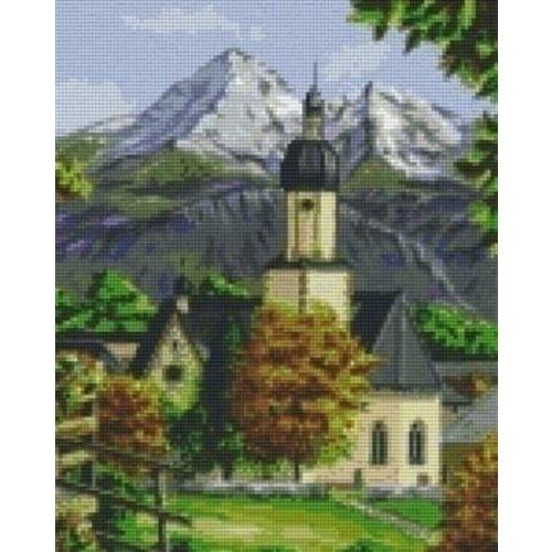 PixelHobby Pixelhobby Patroon 809175 Kerk in de Bergen