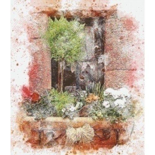 PixelHobby Pixelhobby patroon 5529 Venster met bloemen