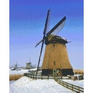 PixelHobby Pixelhobby patroon 816114 Molens in de sneeuw