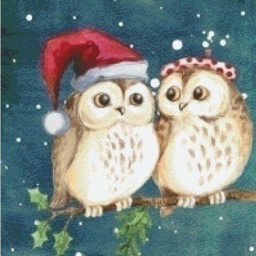 PixelHobby Pixelhobby patroon 5546 Christmas Owls