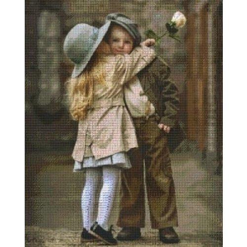 PixelHobby Pixelhobby patroon 836015 Kissing Kids