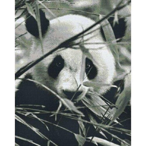 PixelHobby Pixelhobby patroon 836026 Panda zwart wit